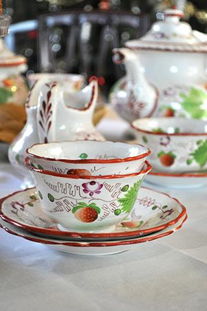 Staffordshire Historic Teacup and Tea set