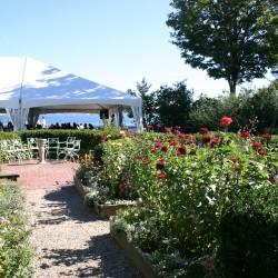 Garden seaside wedding at House of Seven Gables